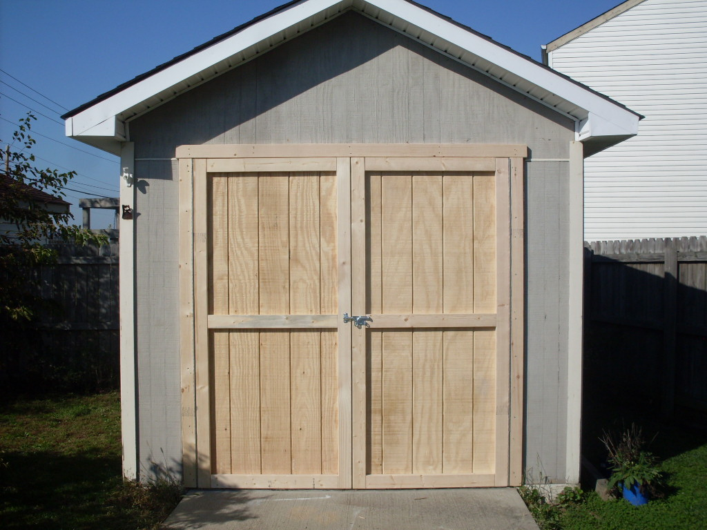 Wooden shed doors for sale 2014