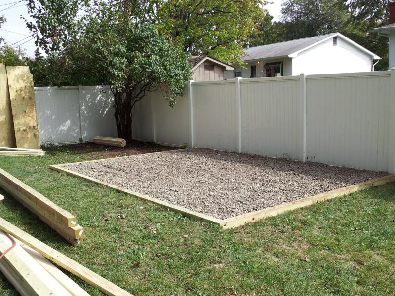 Base for shed gravel, small bike shed plans, free shed plans with ...