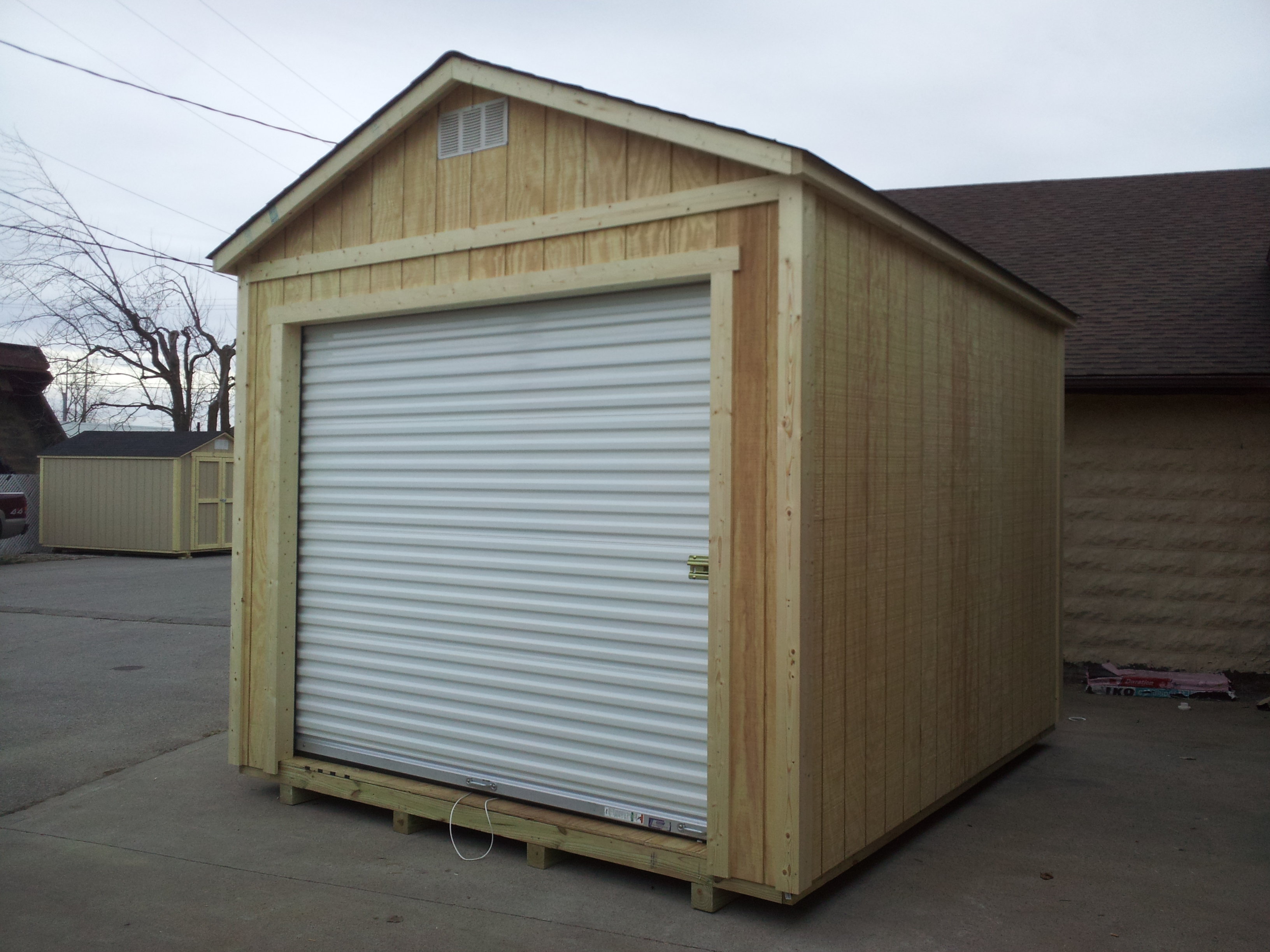 Roll Up Barn Doors Installation Of Storage Shed Hanike